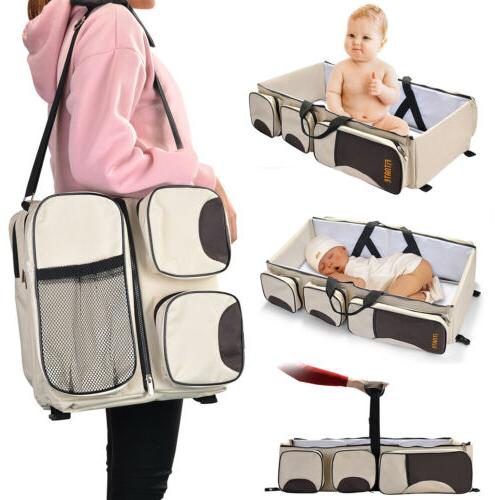 3 in 1 Diaper Tote Travel Bassinet Nappy Station Carrycot Baby