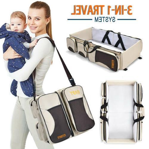 3 in 1 diaper tote bag travel