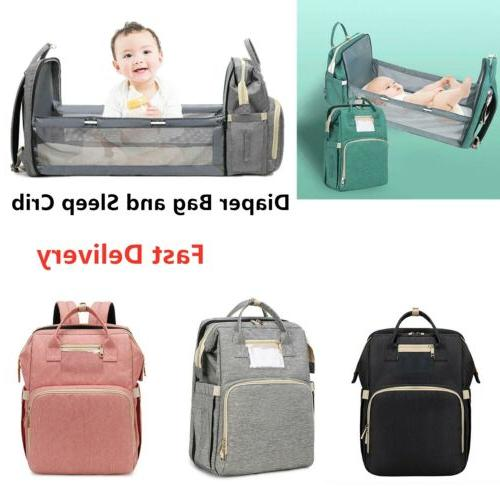 3 Mommy Diaper Bag Travel Crib