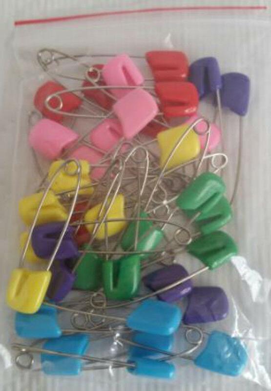 36 baby cloth diaper pins plastic head