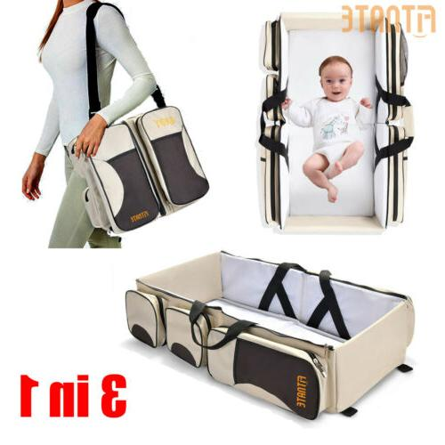 3in1 baby diaper bag mummy nappy backpack
