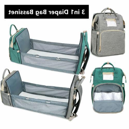 3in1 Foldbale Diaper Bag Baby Crib