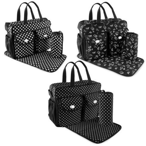 3pcs/set Larger Bag Baby Bag Nappy BLK