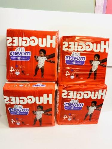 4 little movers diapers size 4 22