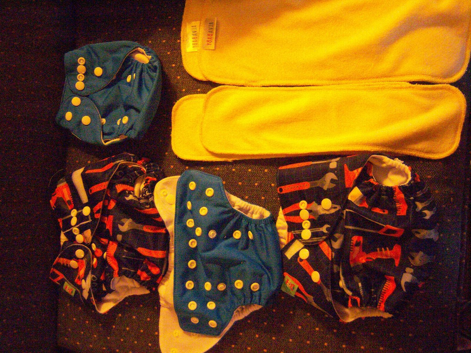 4 ALVA Cloth All In Diapers