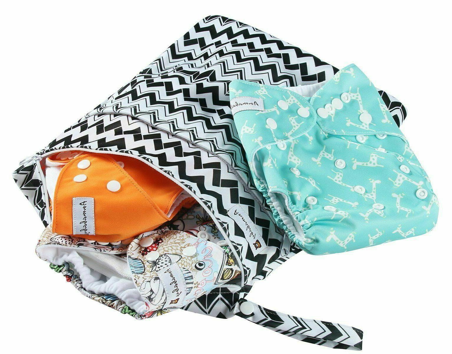 4 Pañales De Tela Para Nadar 0-24 Meses Bebés Reutilizables Set