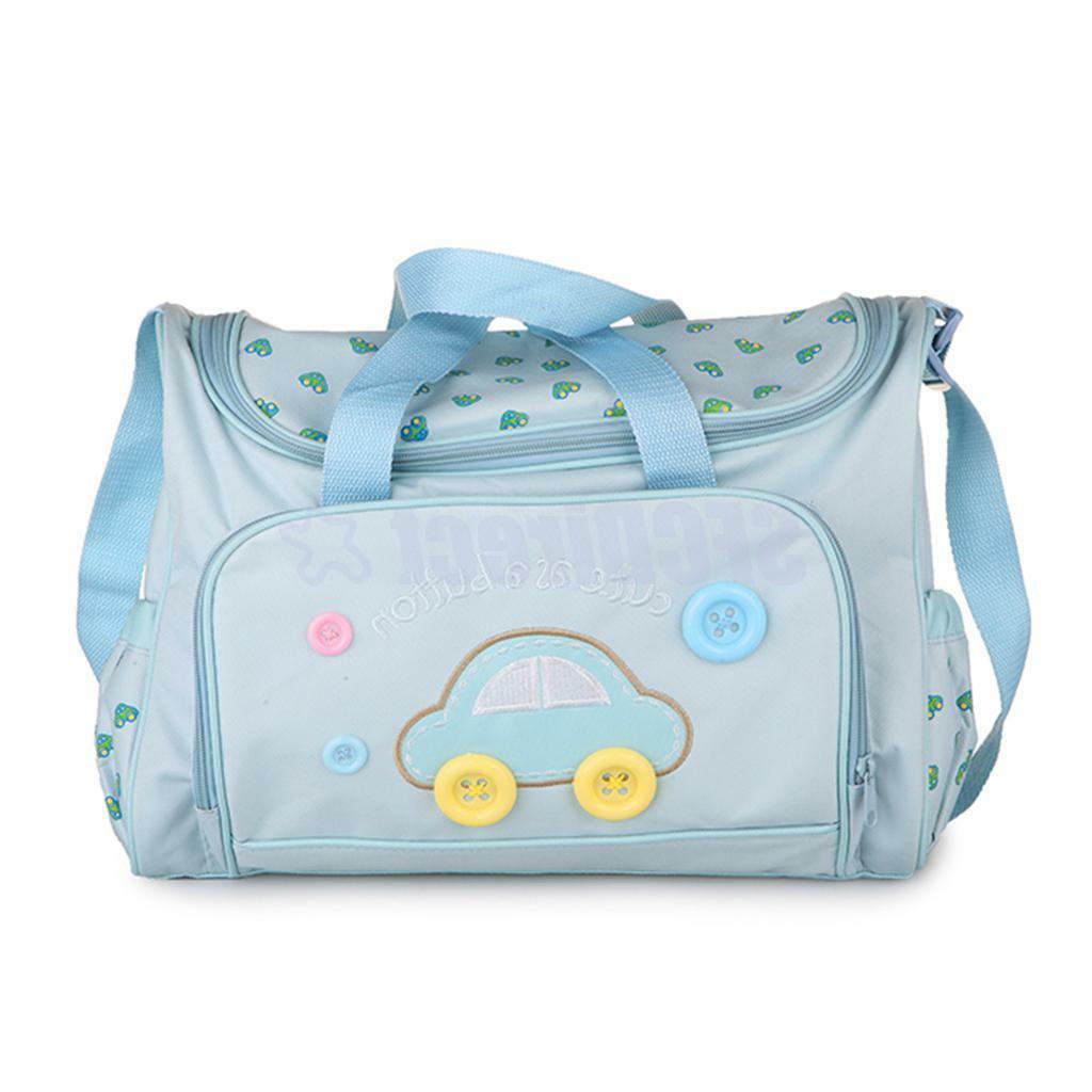 4PCS Blue Large Diaper mat Mommy Handbag US Seller