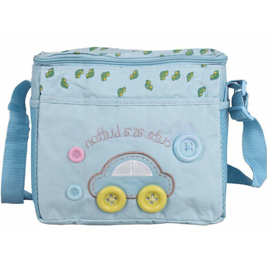 4PCS Blue Diaper Nappy Mommy Tote Handbag US Seller