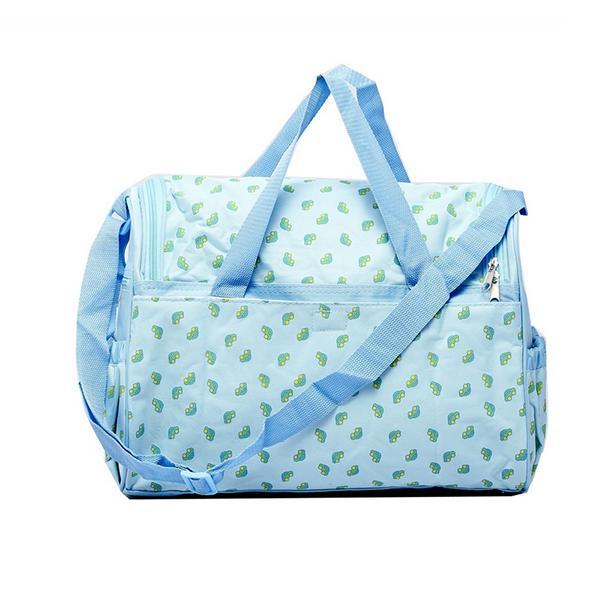 4PCS Blue Baby Diaper Nappy mat Mommy Tote Handbag US