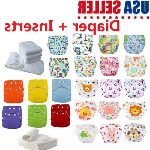 5 pack diapers inserts adjustable reusable baby