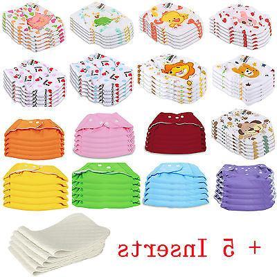 5 pcs 5 inserts cloth diapers lot