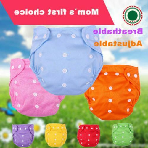 5 Pcs+5 Diapers Lot Adjustable Reusable