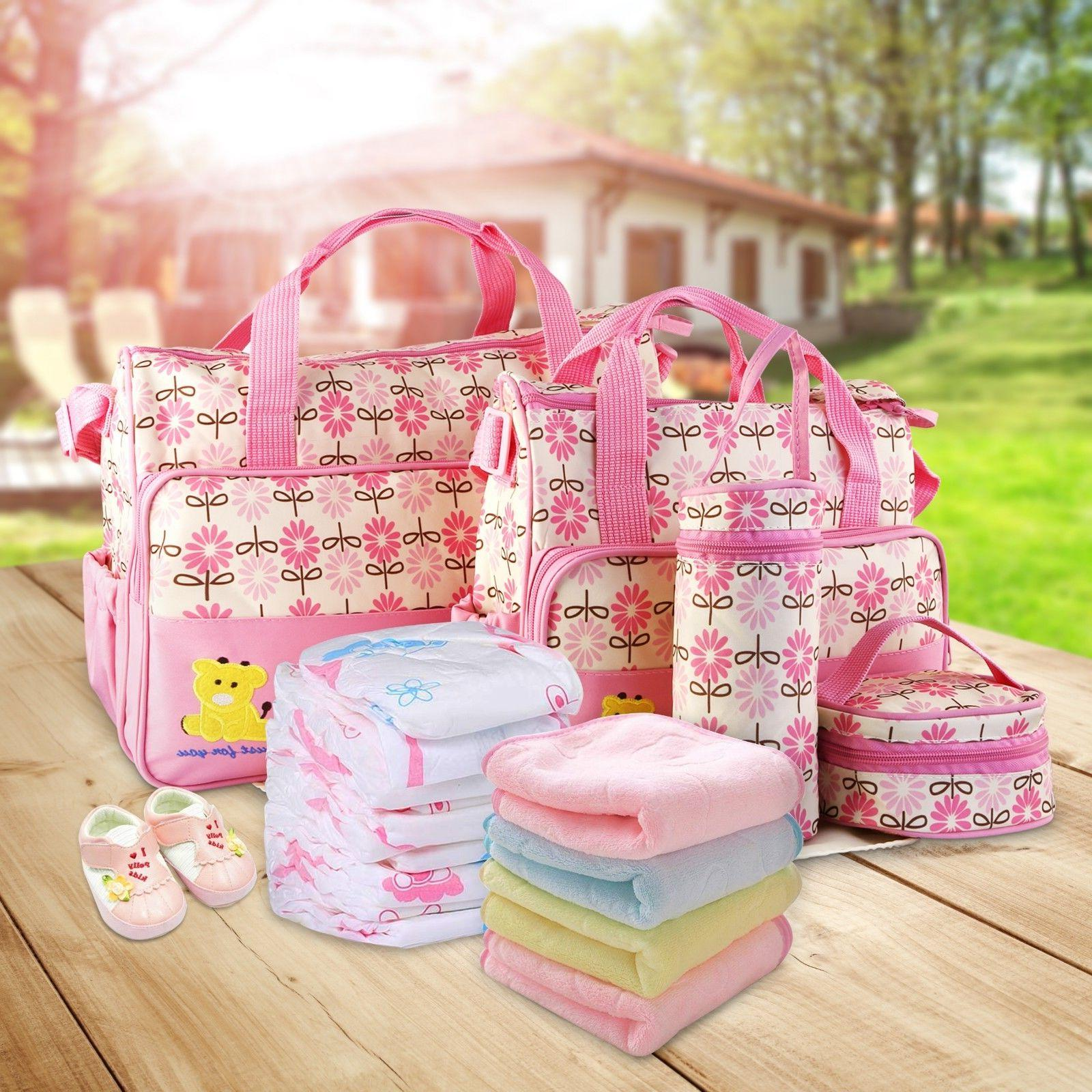 5pcs Baby Mommy Handbag Bottle