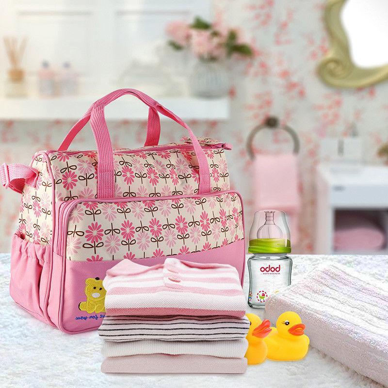 5pcs Handbag Changing Diaper Bottle Set
