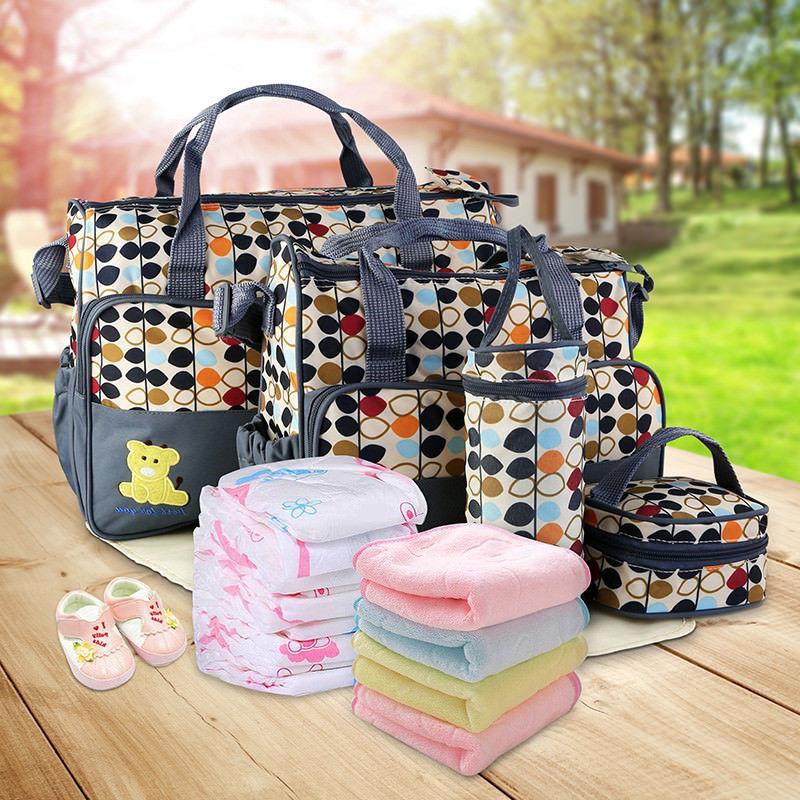 5pcs Baby Mommy Handbag