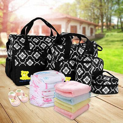 5Pcs/Set Multi-functional Mother Handbag Nappy US