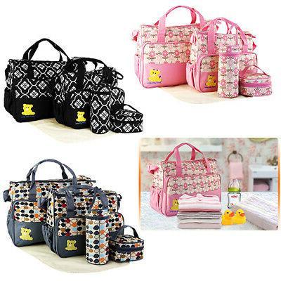 5Pcs/Set Multi-functional Handbag Baby Changing Nappy