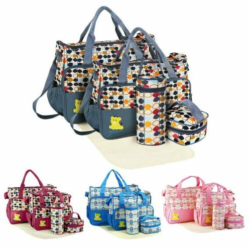 5pcs set multi functional mummy mother handbag