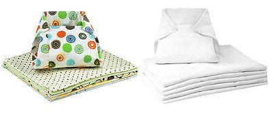 6 pack washable prefold cotton flannel cloth