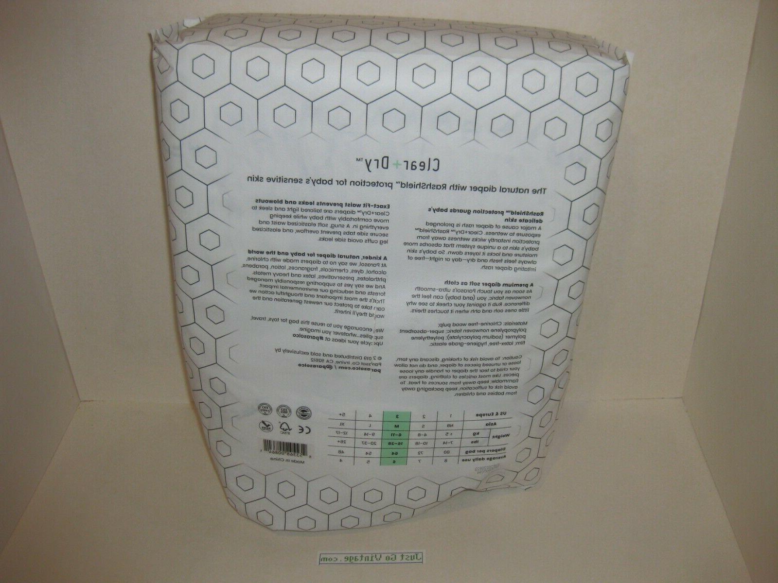 64 PARASOL Clear+Dry Disposable 3 Medium 16-28 lbs