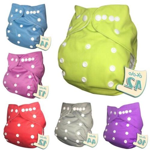 6pcs eco friendly washable diapers baby diaper