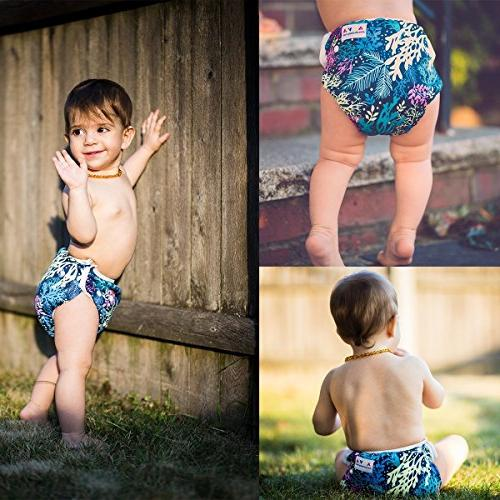ALVABABY Reuseable Pocket 6 Cloth Diapers 12
