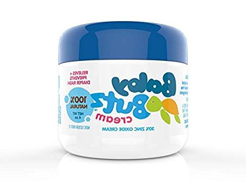 Baby Cream All Natural Zinc Butt Heals Diaper Rash Quickly Great Skin