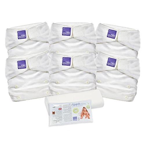 Bambino Mio, Miosolo Cloth Diaper Set, Onesize, White