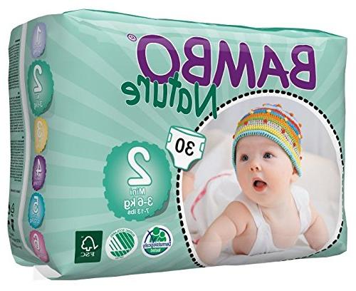 Bambo Baby Diapers Classic Sensitive Skin, Size ,