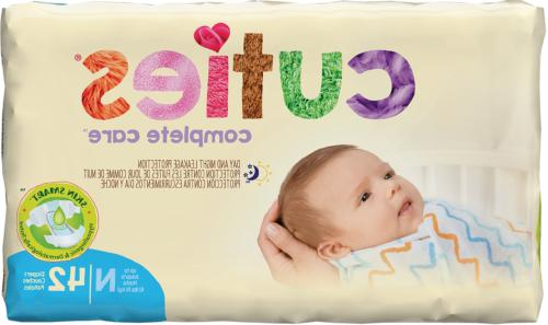 Cuties Baby Diapers - Newborn up to 10 lbs 4pks/42