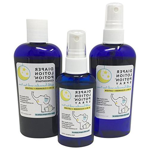 Diaper Potion All Natural Diaper Guard for Your Baby's Bottom - and Soothing Antibacterial 2-in-1 and and Tea Essential Oils
