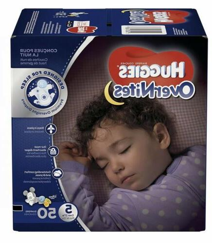 HUGGIES OverNites Diapers, Size 5, 50 ct., BIG PACK Overnigh