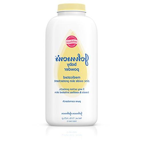 JOHNSON'S Medicated Baby Powder 15 oz