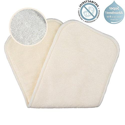 Love My Baby Cloth Diaper 12pcs 4layers Super Water Absorbent Antibacterial Bamboo Inserts