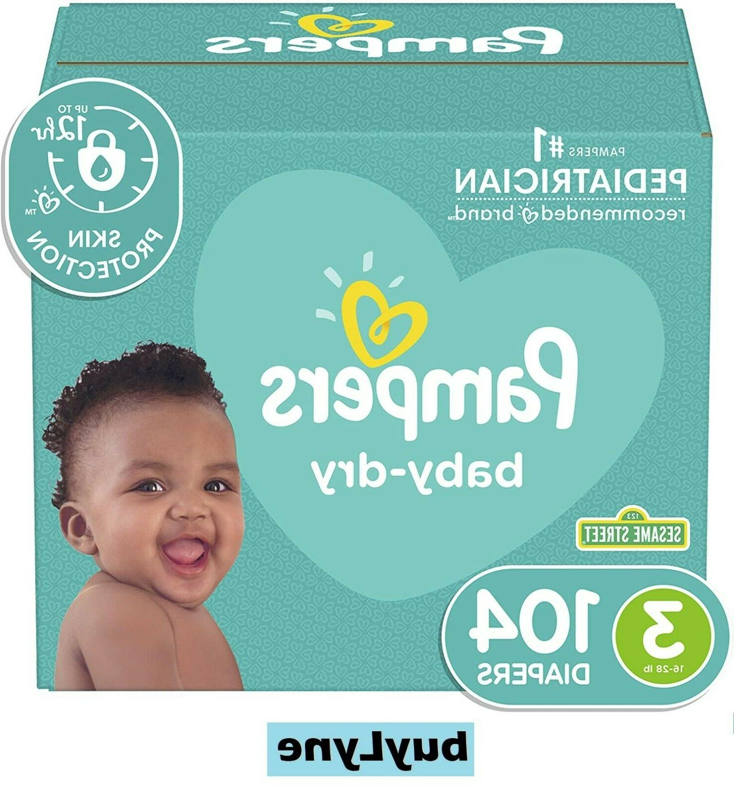 Pampers Baby-Dry Disposable Size 104 SUPER
