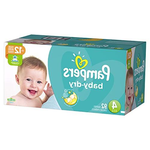 Pampers Baby-Dry Disposable Size 4, 92 Count, SUPER