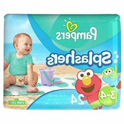 Pampers Splashers Disposable Diapers, Count,