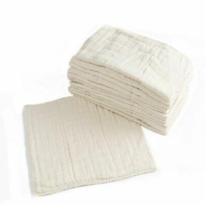 Prefold Cloth Diapers - 12 Pack - Unbleached Premium Cotton,
