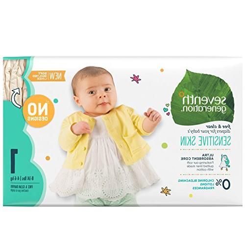 Seventh Generation Baby Diapers, Free & Clear for Sensitive