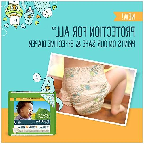 Seventh Free and Clear Diaper pack each.