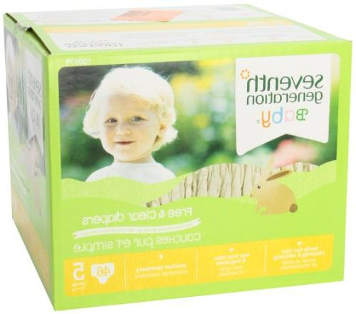Seventh Free Clear Diaper - 46 pack 1