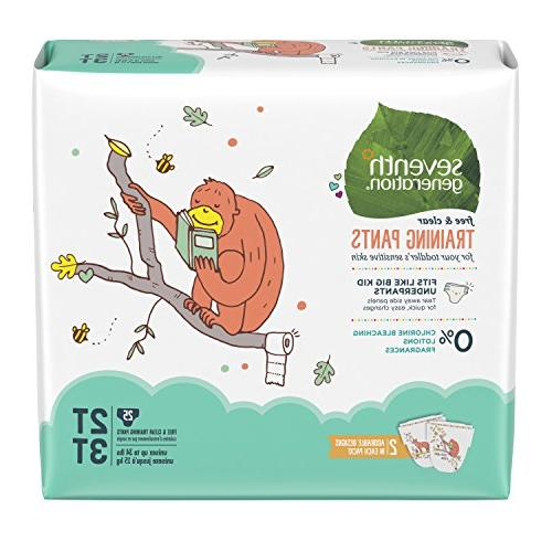 Seventh Generation Toddler Potty Training Pants, Free & Clea