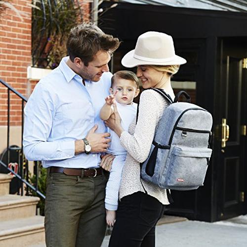 Skip Diaper Backpack Matching Pad, Duo Grey