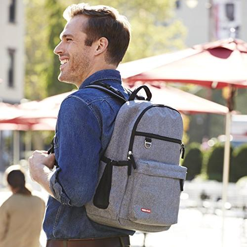 Skip Hop Backpack Pad, Duo Signature, Grey