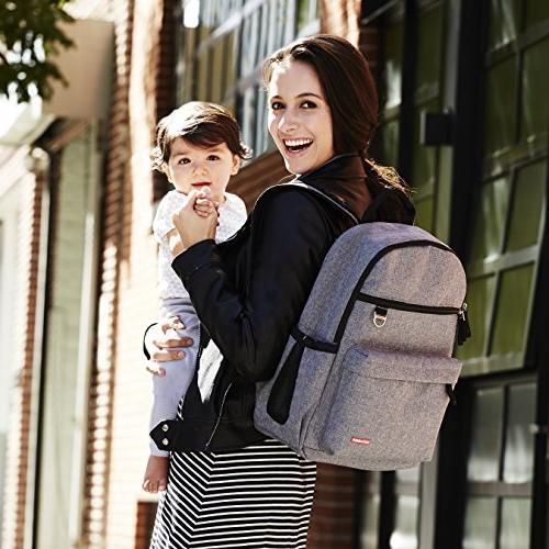 Skip Hop Backpack Matching Changing Pad, Grey