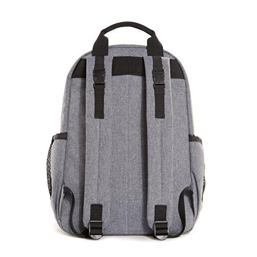 Skip Diaper Backpack With Pad, Duo Signature, Heather Grey