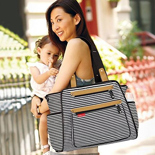 Skip Hop Diaper Tote With Matching Changing Pad, Central, &