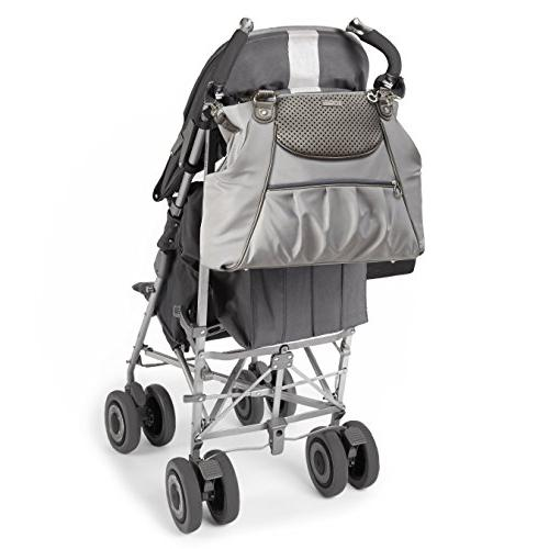 Skip Hop Select Day-to-Night Diaper Satchel, Pewter