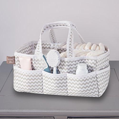 Trend Lab Gray Chevron Caddy - White/Gray