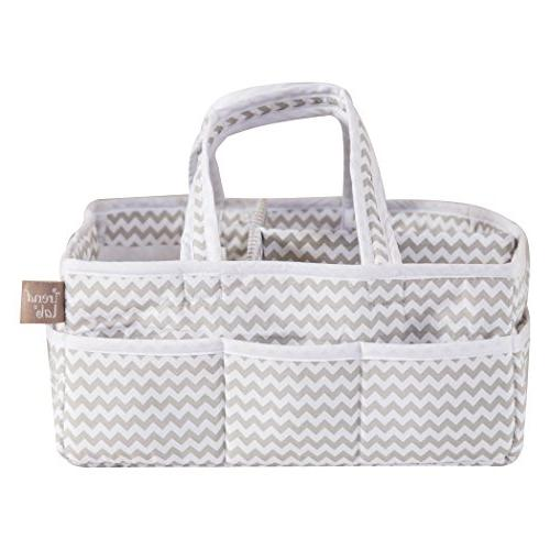 Trend Lab Dove Gray Chevron Diaper Caddy